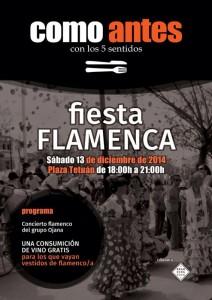 Fiesta Flamenca en como antes 13 dic 2014