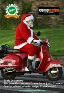 Nuestro Papa Noel viaja en vespa 23122014