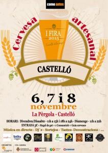 Cartel Fira Cervesa Artesana Castello by como antes
