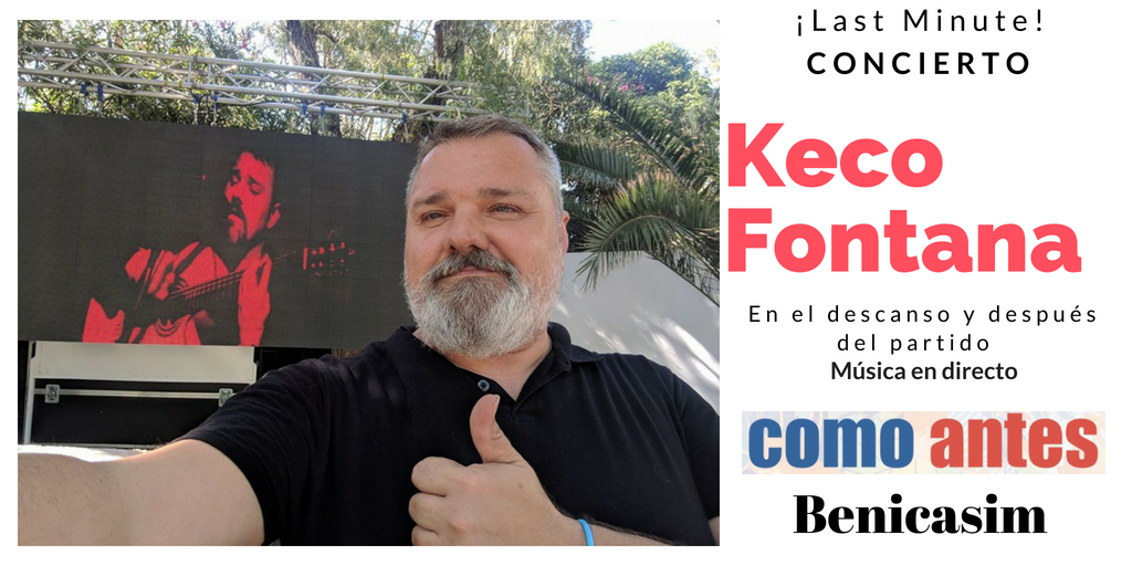 Keco Fontana en concierto en como antes Benicasim